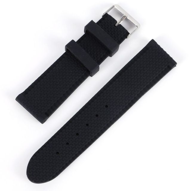 Men Sport Band Soft Silicone Strap Rubber Waterproof Wrist Watch Band 18-24mm