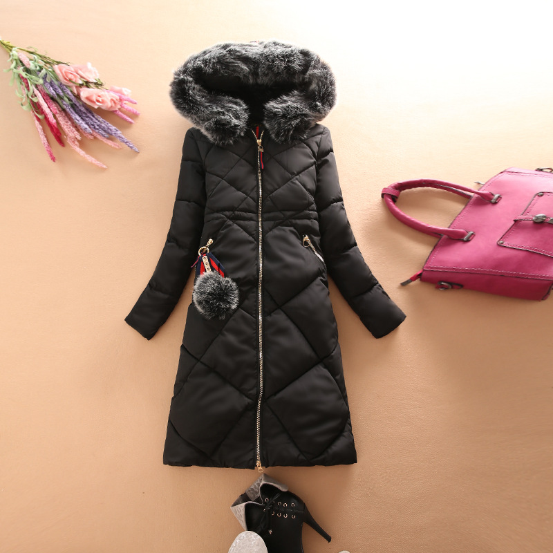Women Winter Jacket 2017 For Women Parka Coat Fur Hooded Down Cotton Female Winter Jackets Women's Parkas Warm Thick fashionable thick hooded pleated down coat for women