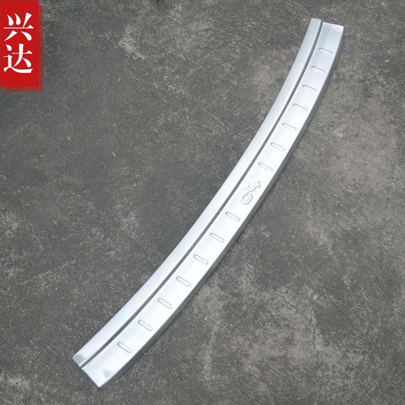 ФОТО Automotive accessories stainless steel Built-in external Rear bumper Protector Sill for 2016 Citroen C4 C-Quatre Car styling