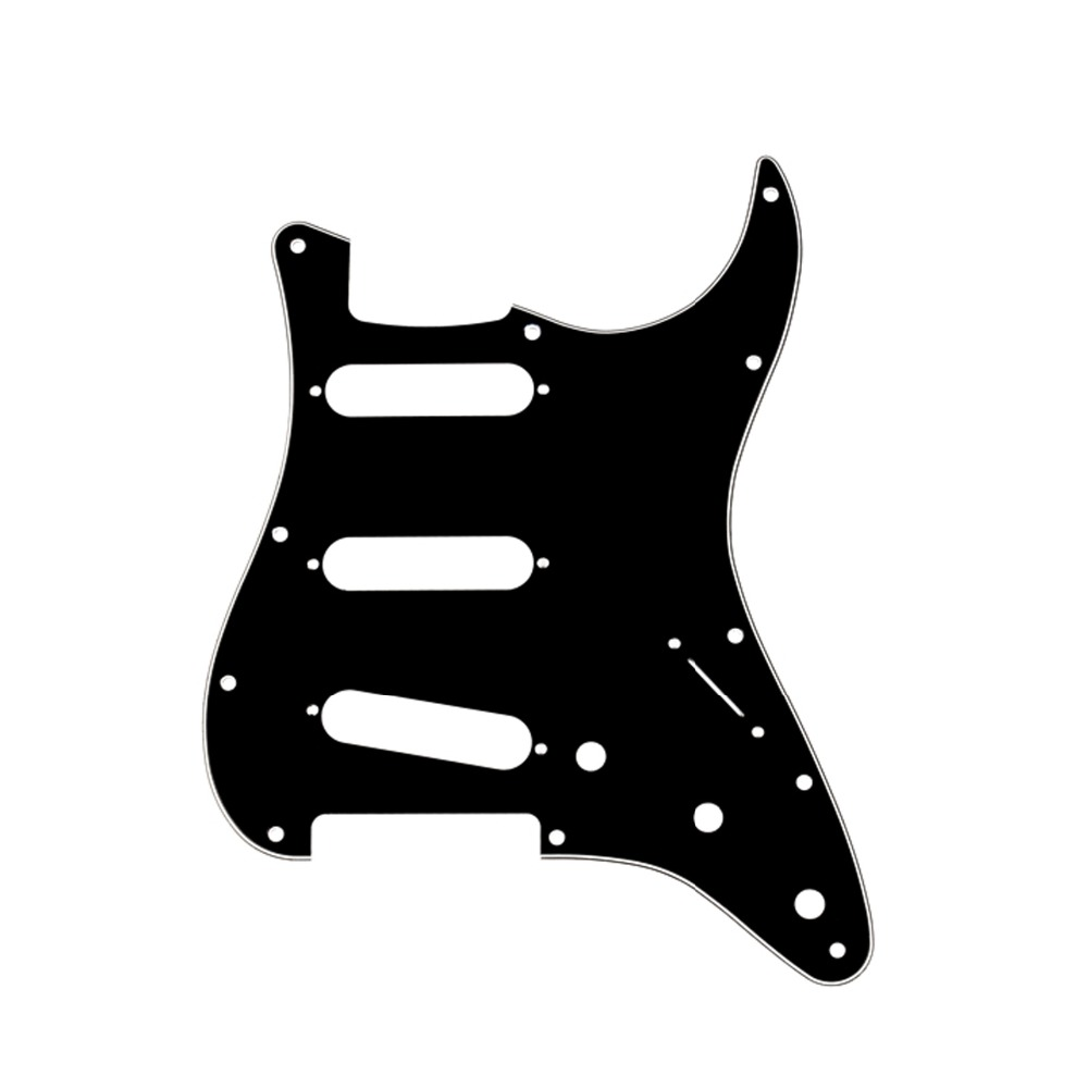 Musiclily SSS 11 Hole Strat Guitar Pickguard for Fender Stratocaster Guitar Accessories kaish 11 hole strat st sss single coil pickups guitar pickguard scratch plate with screws for american fender 62 stratocaster