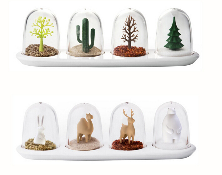 Plants animals season flavor spices jar condiment bottles salt cactus pine trees bear deer camel rabbit Free shipping пена монтажная mastertex all season 750 pro всесезонная