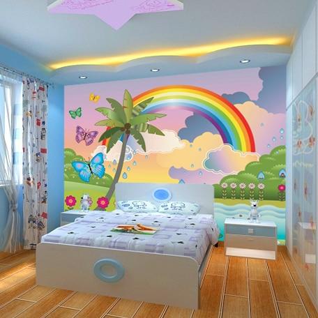 Popular Rainbow Wall Mural-Buy Cheap Rainbow Wall Mural ...