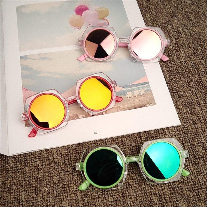 Der GüNstigste Preis Retro Moderne Mode Neue Transparent Rahmen Kind Sonnenbrille Reflektierende Farbe Sonnenbrille Jungen Und Mädchen Sonnenbrille Uv Schutz Fein Verarbeitet