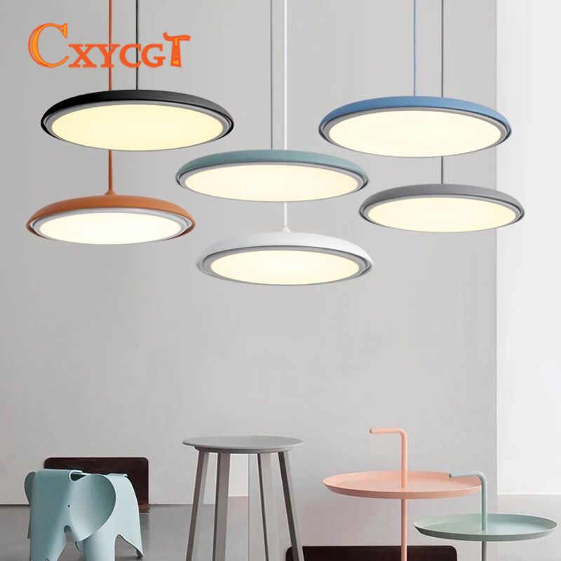 Скандинавский пост-современный светодиодный подвесной светильник для ресторана, гостиной, бара, кухни, люминесцентные лампы, промышленная ламинария комнатная подсветка