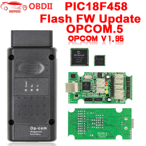 Image 1 - For Opel OP COM V1.95/V1.70 2014V PIC18F458 FTDI FT232RQ Be Flash Update OBDII OBD2 Diagnostic Scanner Cable Op com OPCOM V1.99