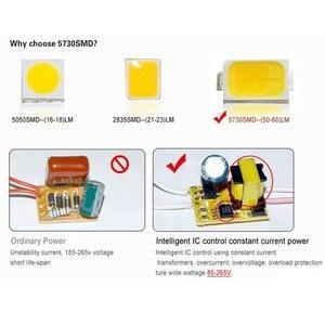 Image 3 - Led 電球ランプ 220 v 110 v ランパーダ led ライト E27 7 ワット 9 ワット 12 ワット 15 ワット smd 5730 led ライト & 照明 A60 A70 A80 A90 エネルギー節約ランプ