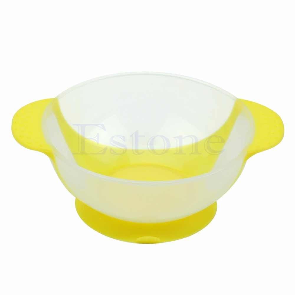 New 1Pc Baby Suction Bowl Temperature Color Changing Feeding Tableware