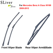 цена на SLIVERYSEA Windscreen Wiper Blades For Mercedes Benz A Class W169 2005-2012 Fit WindshieldRubber Wipers Arm Car accessories