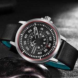 Image 3 - Pagani mens 시계 브랜드 럭셔리 세련된 시계 가죽 스트랩 새로운 다이얼 디자인 회전 달력 밀리터리 쿼츠 시계 남성용