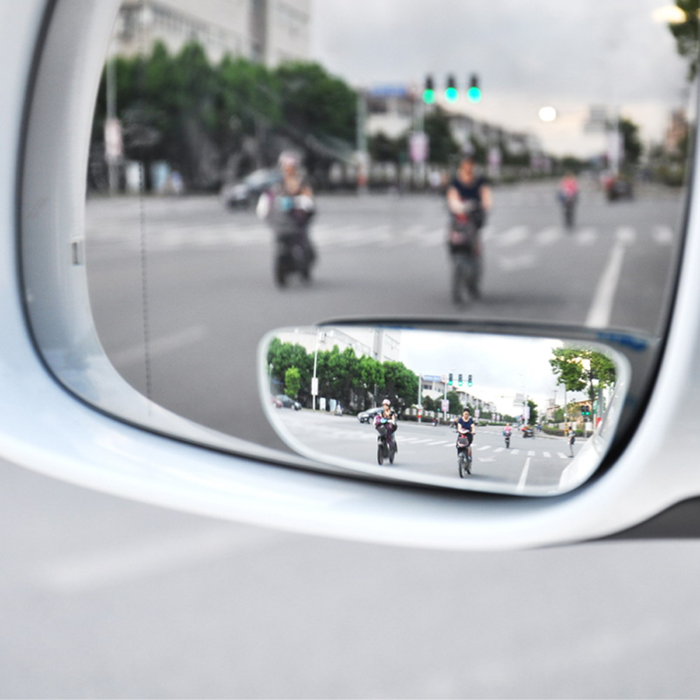 VODOOL 2PC Car Mirror Auto 360 Wide Rear View Angle Round Convex Vehicle Side Blindspot Blind Spot Mirror Wide Round Mirror 2 in 1 car blind spot mirror wide angle mirror 360 rotation adjustable convex rear view mirror view front wheel car mirror