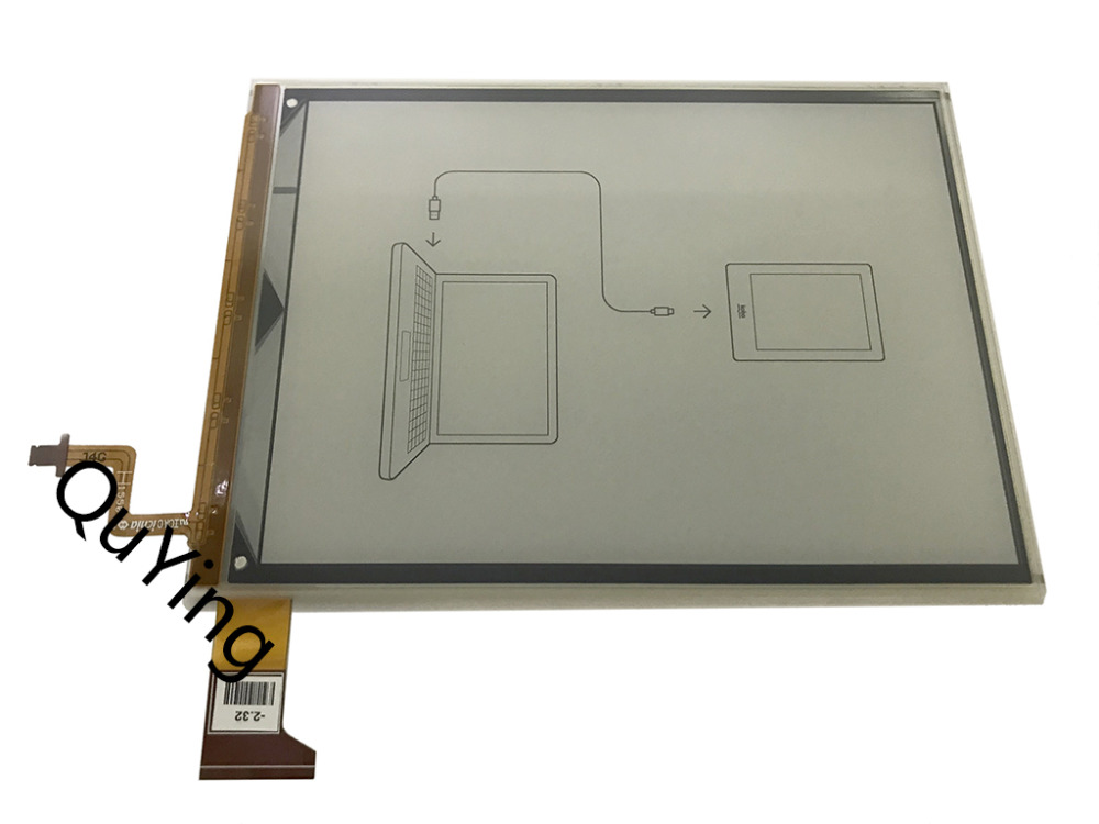 Quying ebook Screen 10pcs Panel E-Ink ED060KG1 (LF) C1-68 For Kobo Glo HD 2015 BQ Cervantes 3 FNAC Touch Light 2 Reader eReader 6 e ink ed060xg1 lf t1 11 ed060xg1 768 1024 lcd screen screen for kobo glo n613 reader ebook ereader lcd display