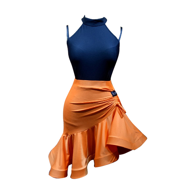 a47a0f32442ef Latin Dance 2 pieces set Bodysuit and Fringe Skirt practice clothes Lesson ballroom  dance tango salsa cha cha rumba samba tango