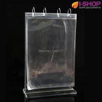 Counter Top Sign Holder Magazine Size Restaurant Menu Holder Acrylic T Shape Stand Up Holder A4
