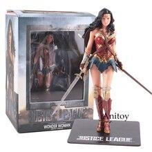 Super-Heros jouets Superman Batman Wonder Woman Action Figure PVC Collectible Toy Gift 17.5~18cm