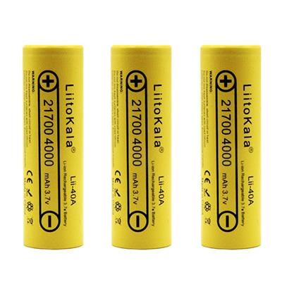 8 PCS Liitokala lii 40A 21700 li lon battery 4000 mAh 3.7 V Power 15A Charge 5C Lithium battery ternary electric car battery