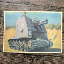 RMK 018 Back To The Future Kraft Paper Double Tank Wallpaper Art Poster