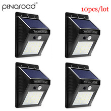 2-10pcs 30 LED Solar Power Garden Light Outdoor PIR Motion Sensor Wall Emergency Security Lamp In Night SL024