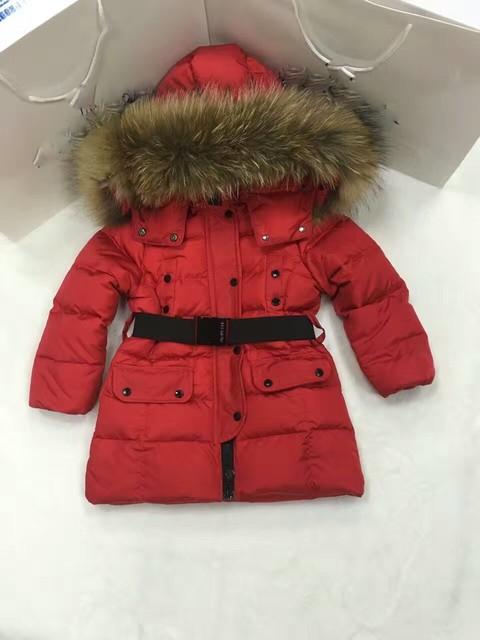 2016 Зимняя Куртка Девушки вниз пальто ребенок вниз куртки девушки утка вниз Меха с капюшоном с длинным дизайн пальто детей и пиджаки верхняя одежда