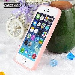 YAMIZOO чехол Чехол для iPhone 5 5S SE чехол силиконовый Ударопрочный Мягкий чехол 360 розовый милый чехол для телефона чехол s для iPhone 5S, se чехол 5