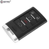 KEYYOU 5 boutons télécommande porte-clés coque de voiture avec clé vierge pour Cadillac 2005-2011 DTS CTS STS XTS