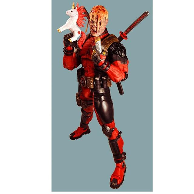 45 CM Nieuwe Mutants Ultimate Deadpool Action Figure PVC Standbeeld Beweegbare Gewrichten Ver Model Speelgoed Kid Gift H477