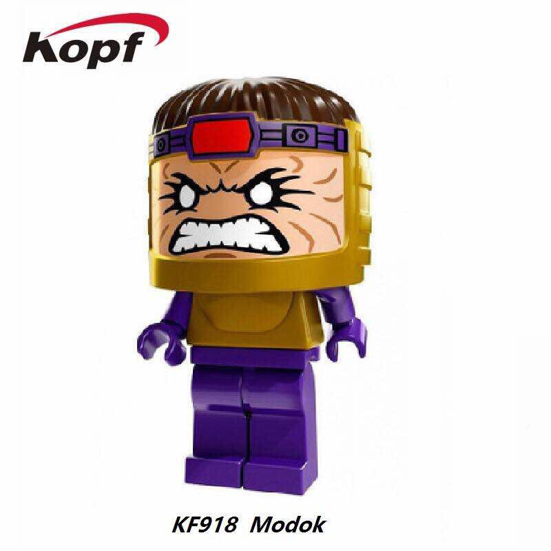 Single Sale Super Heroes Modok George Tarleton from Hulk Lab Smash Set Building Blocks Best Education Toys for children KF918
