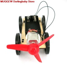 Mini Wind Powered DIY Car Kit Children Education Learning Hobby Funny Gadgets Novelty Interesting Toys Birthday Gift Craft Toys(China)