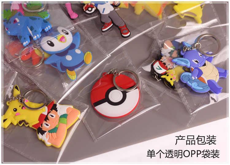 6 cm 9 cm pergi Keychain anime Pocket Rakasa Pokemon Charmander Meowth Psyduck Jigglypuff Ash Ketchum Liontin Boneka Mainan Lucu