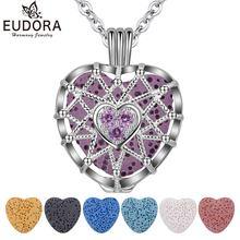 Ожерелье eudora в форме сердца из циркония ароматерапия эфирное