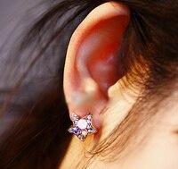 Fine multicolor Crystal Pentagram pendientes/accesorios de las mujeres al por mayor/brincos femeninos/Boucle d'oreille/bijoux femme