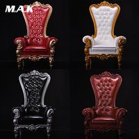 Hot Figure Accessory Furniture 1:6 17SF01 1/6 Scale European Queen Sofa Chair Model W Crystal Sofa Model Toys Collection Gift