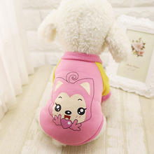Winter Warm Cartoon style Dog Vest made of Cotton
