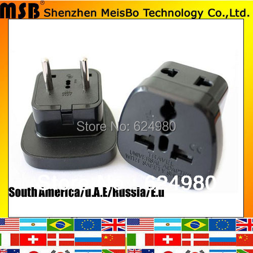 Electrical 10a 250v Abs South America Converter Us Brazil Uk To Eu Travel Adapter Plug 500pcs Lot Free Shipping