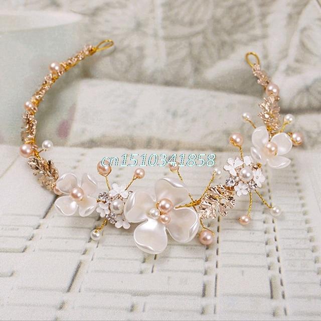 Свадебный цветок с искусственным жемчугом свадебные туфли со стразами повязка зажим для волос Тиара Интимные Аксессуары # Y51 #
