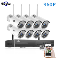 WIFI CCTV System 8ch HD Wireless NVR Kits Bullet 1 3MP IP Camera IR CUT CCTV