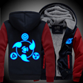 New winter coats NARUTO hoodie jackets light Anime Hooded Zipper men thick cardigan  Sharingan