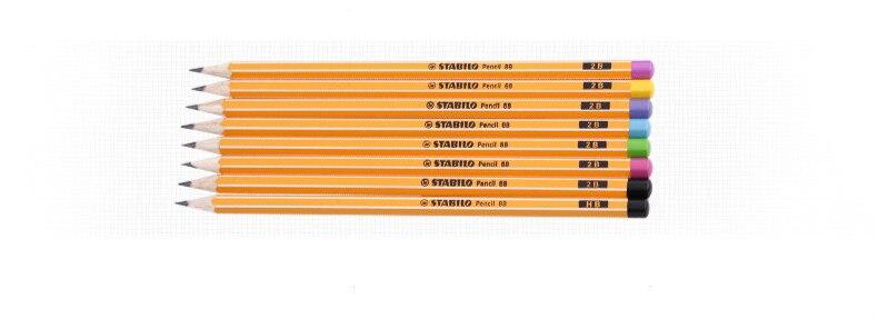 madeira hexagonal lapipas padrão lápis 2b lapis