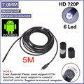7mm Lens Mini Camera Android Usb Endoscope Waterproof  Endoskop Inspection Pipe Borescope Phone Endoscopio PCB Vehicle Detector