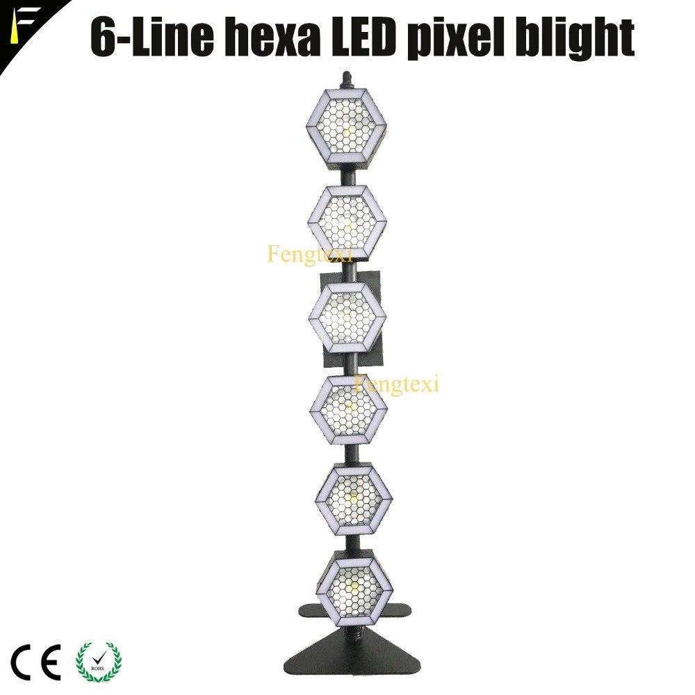 4unite/LOT Linear 6 Hexagon 100w COB LED Pixel Par Back Light Blight Theater Concert TV Station Back Group Lighting With FlyCase