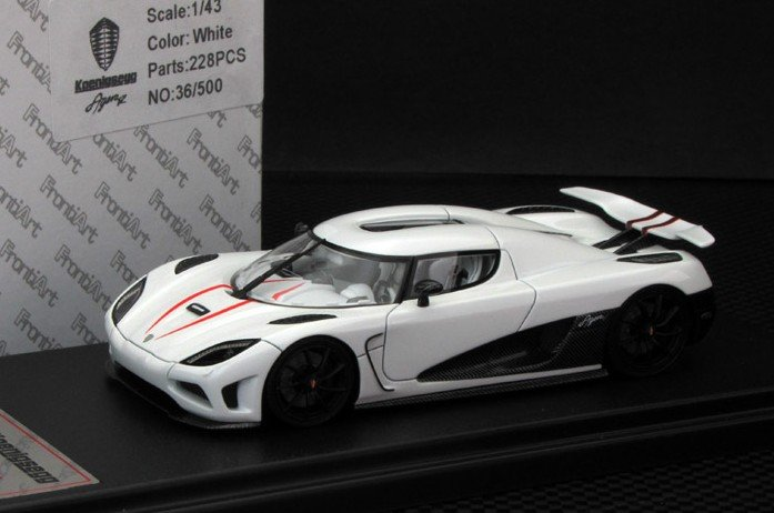 FrontiArt 1:43 Koenigsegg Agera R White Car Model Need For ...