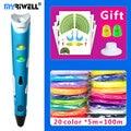 myriwell 3d pen 3d pens,1.75mmABS/PLA Filament,3 d pen 2018 SmartChild birthday present,3d print pen3d model