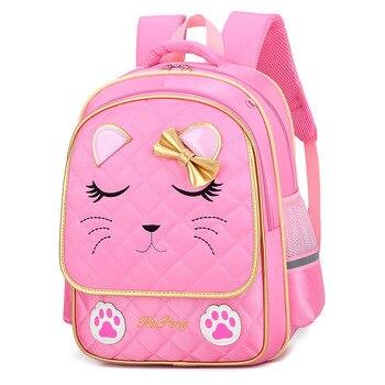 comprar popular 5e982 d98c0 Mochilas infantiles de moda para niñas mochilas escolares impermeables  mochila ortopédica de alta calidad en mochila de escuela primaria >> day  day ...