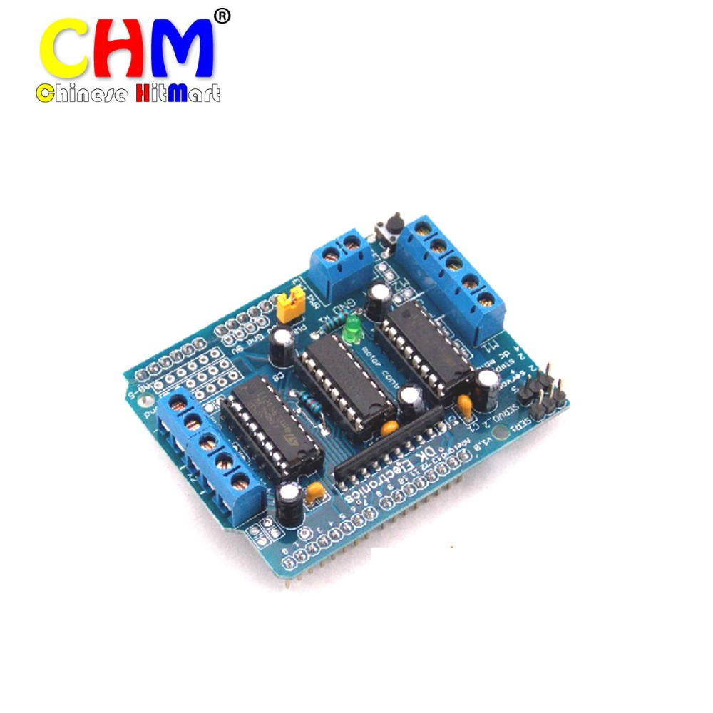 FREE SHIPPING L293D motor control shield motor drive expansion board FOR Arduino motor shield 30pcs/lot  #J151-2