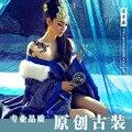 Лето новое поступление горячей продажи династии тан сексуальный костюм синий одежда Японские Гейши Кимоно Классический Сексуальный Костюм для Женщин