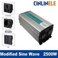 Smart Modified Sine Wave Inverter 2500W CLM2500A DC 12V 24V 48V to AC 110V 220V 2500W Surge Power 5000W Power Inverter 48V 110V