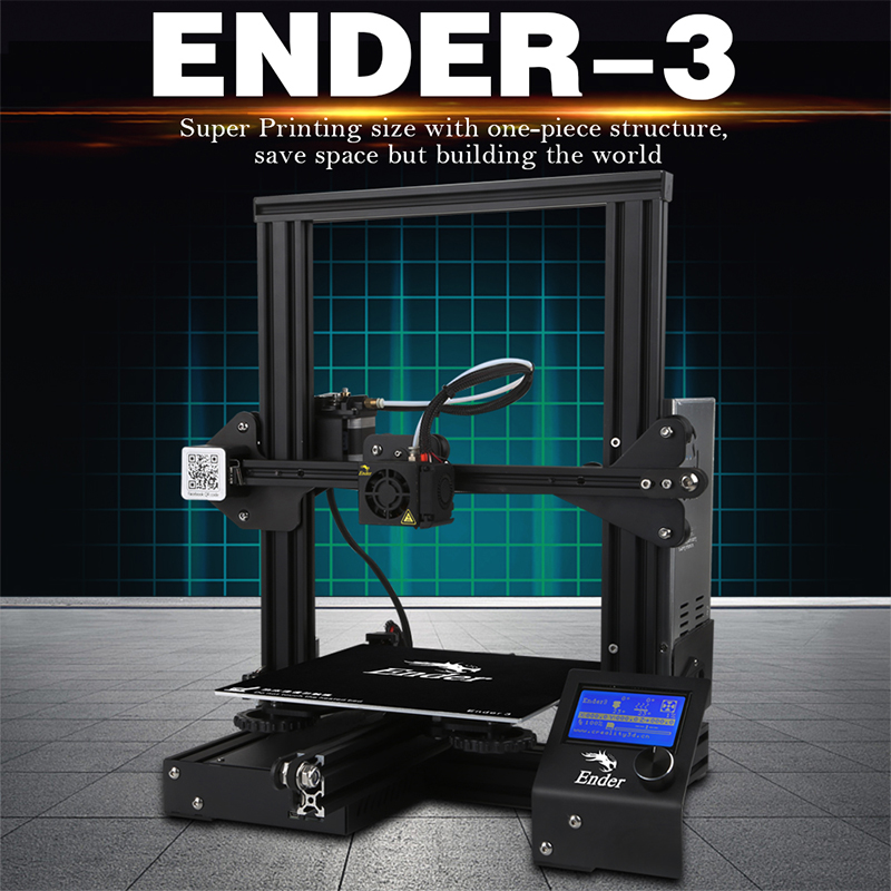 Ender-3 3D Pinter DIY KIT Tempered Glass/Removable Bed Large Print Size Ender 3 Continuation power V-slot Prusa i3 Creality 3D hot pre sale creality 3d ender 3 large print size 220 220 250mm prusa 3d printer diy kit heated bed resume power off function
