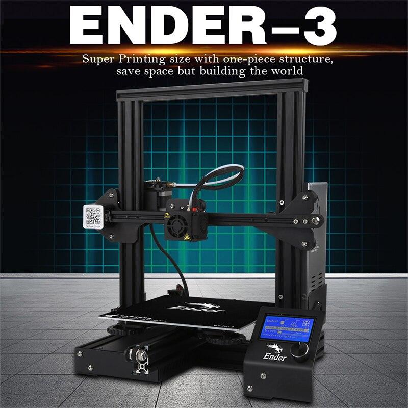 Ender-3 3D Pinter DIY KIT Trempé Verre/Amovible Lit Grande Taille D'impression Ender 3 Poursuite puissance V-slot prusa i3 Creality 3D