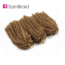 SAMBRAID Flully Spring Twist Hair Crochet Braids 8 Inch Kinky Curly Cr