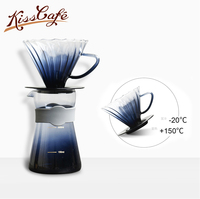 New arrival Glass Coffee Maker Filter V60 Funnel Coffee Dripper Reusable Strainer Cafe P Espresso Filters Coffee Accessories