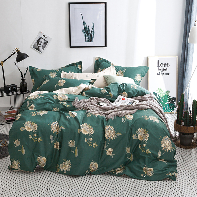 Floral Bedding Set Single Double Quen King Size Nature Duvet Cover Quilt Cover Bed Cover Flat Sheet Fitted Sheet Pillow Cases